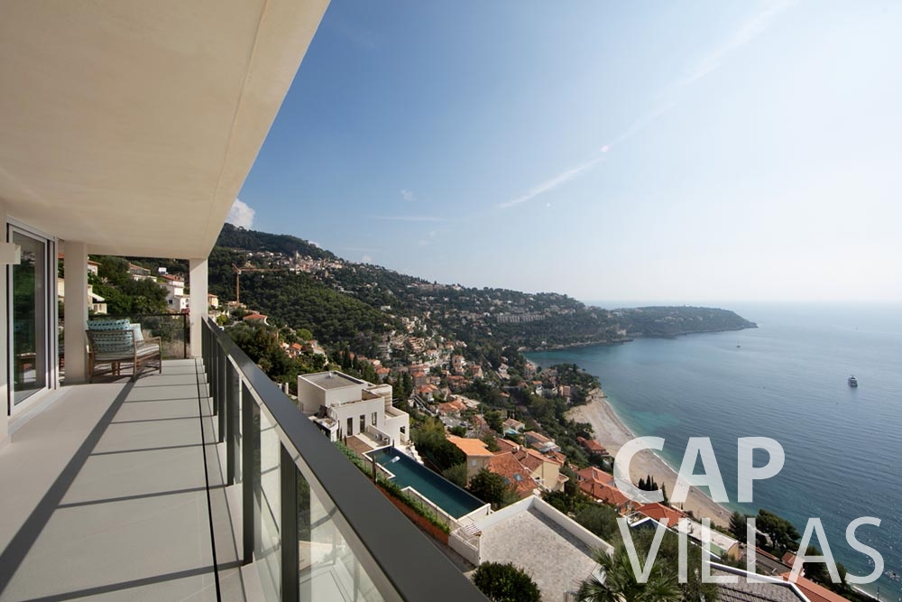 Villa Emma for let roquebrune cap martin emma terrace sea view