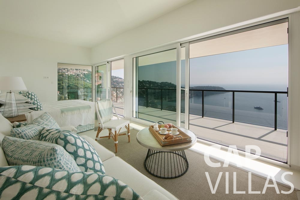 Villa Emma for rent roquebrune cap martin emma living area sea view