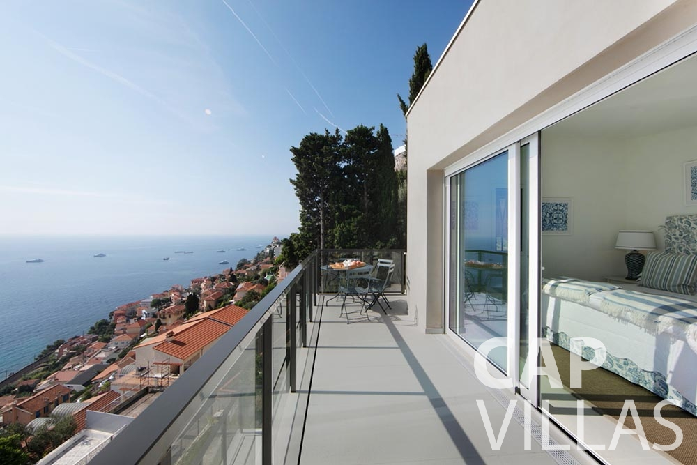 Villa Emma for rent roquebrune cap martin emma terrace sea view