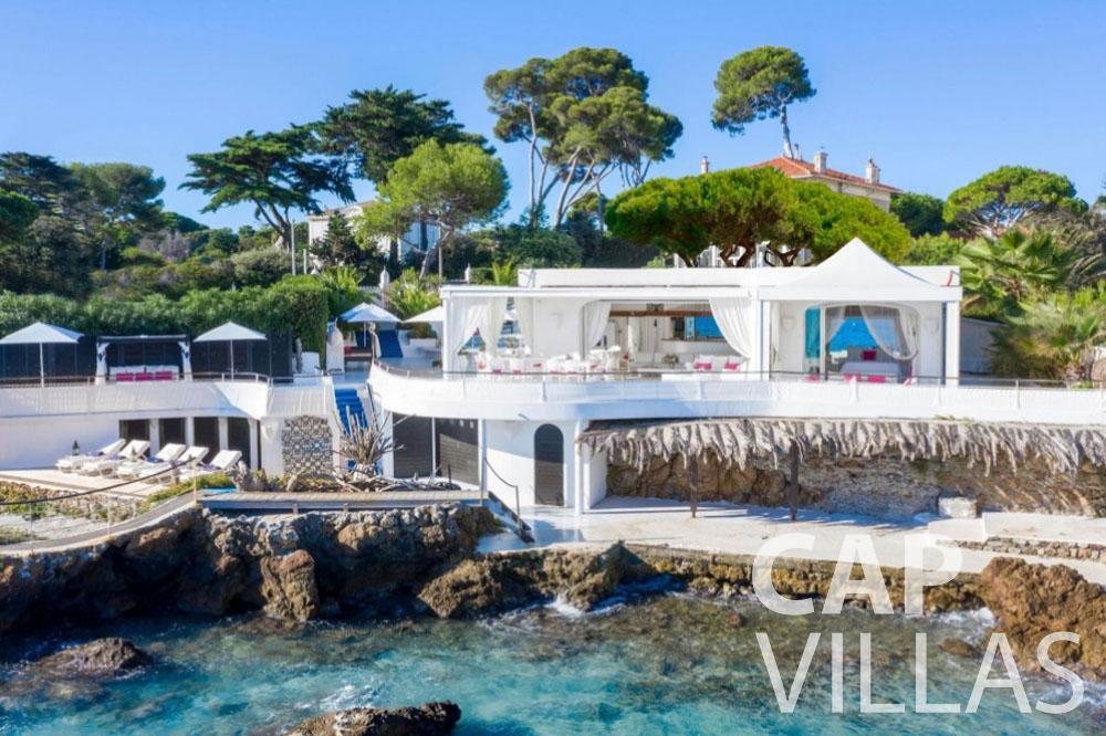 rent Villa Garoupe cap antibes garoupe property bird view
