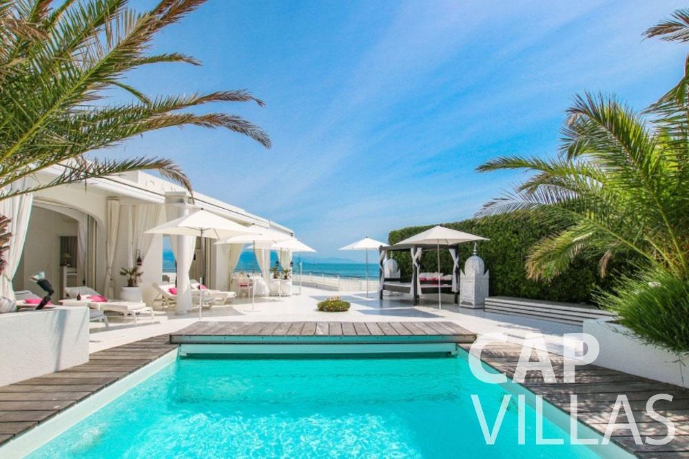 rent Villa Garoupe cap antibes garoupe swimming pool