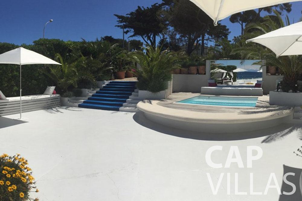 rent Villa Garoupe cap antibes garoupe terrace