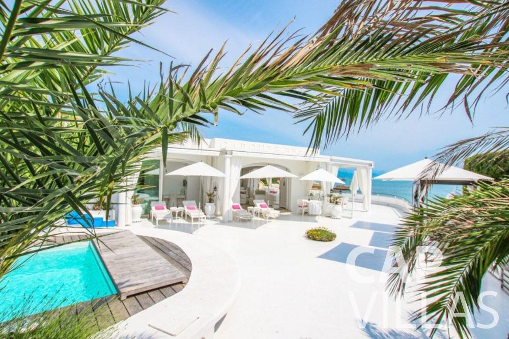 Villa Garoupe for rent cap antibes garoupe terrace