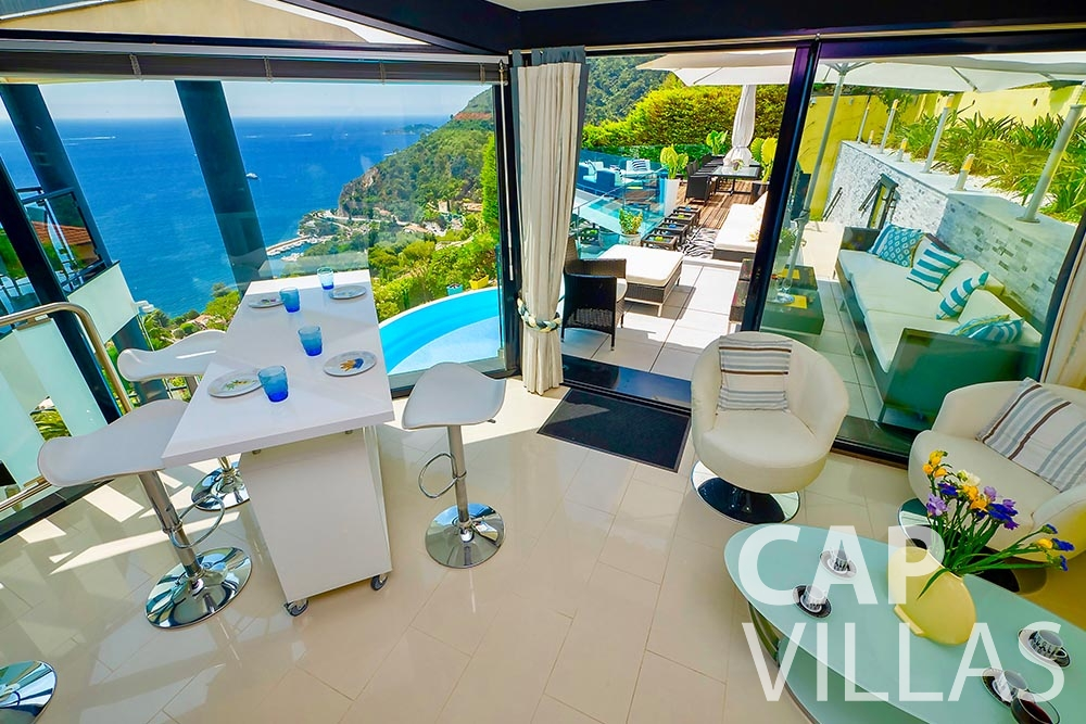 holiday rental eze sur mer grazioli living area