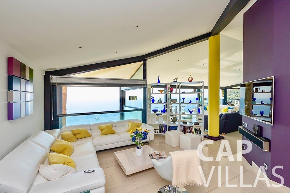 rent Villa Grazioli eze sur mer grazioli living area