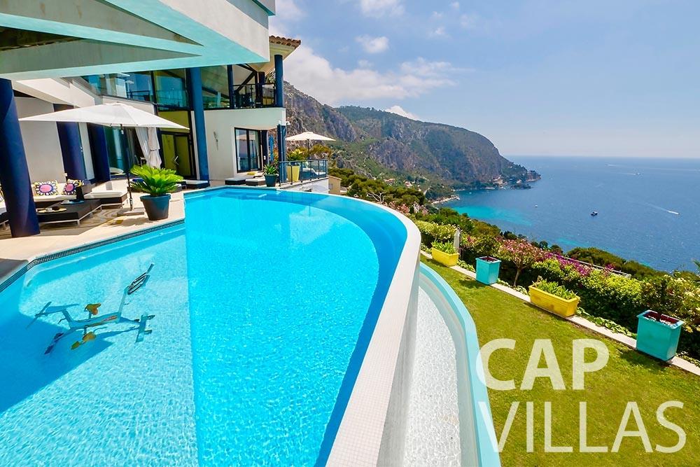 rent Villa Grazioli eze sur mer grazioli swimming pool sea view