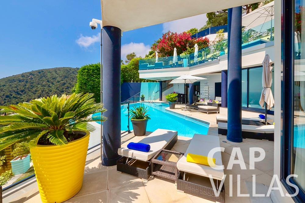rent Villa Grazioli eze sur mer grazioli terrace