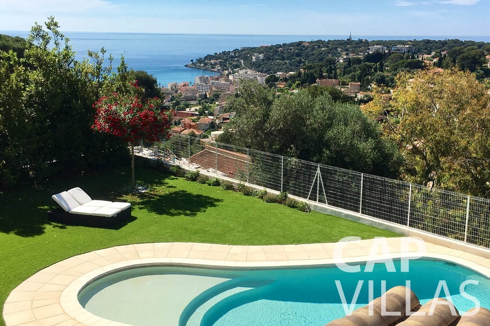Villa Hortensia for rent roquebrune cap martin hortensia swimming pool