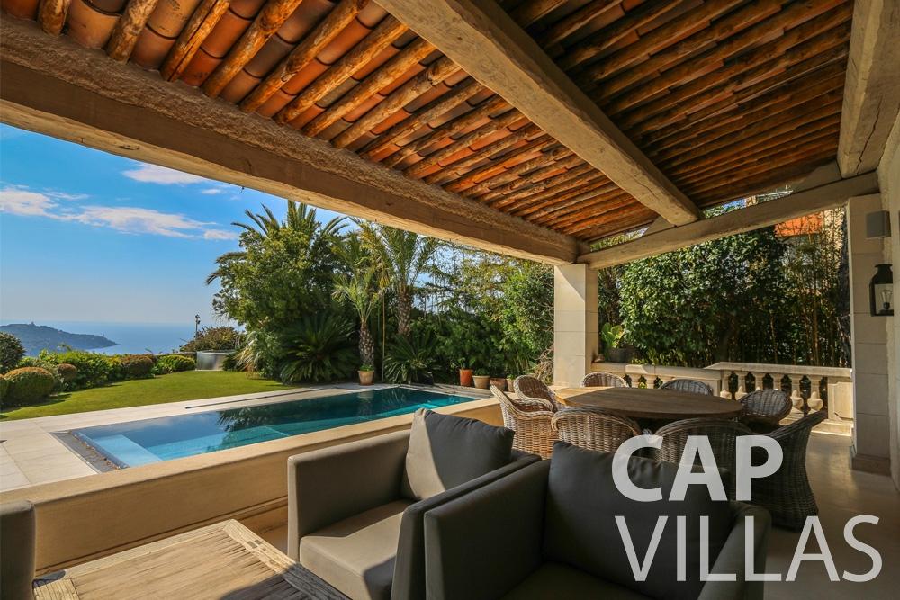 rent Villa Hyacinth villefranche terrace