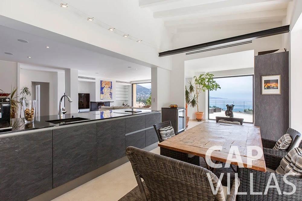 rent Villa Infinity infinity roquebrune cap martin dining area