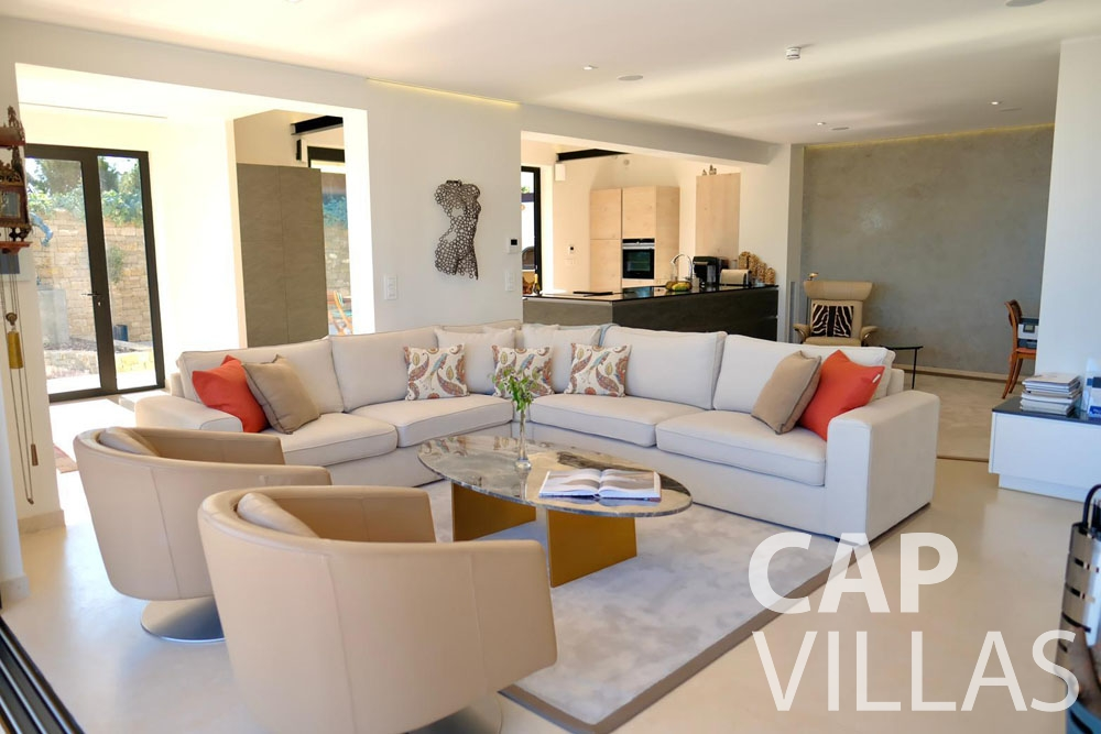rent Villa Infinity infinity roquebrune cap martin living area