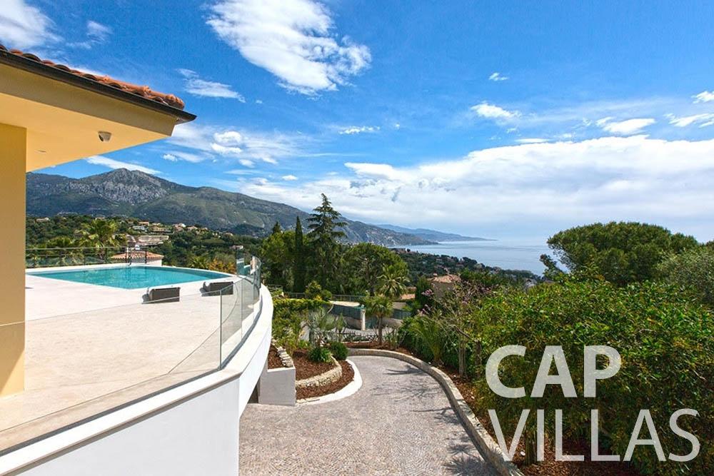 rent Villa Infinity infinity roquebrune cap martin sea view