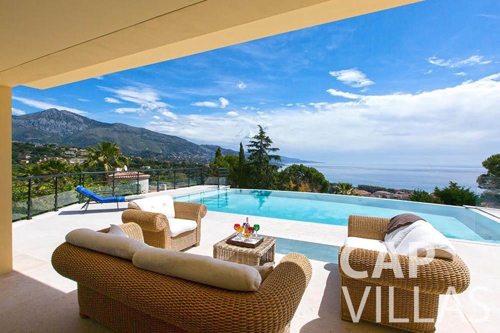 rent Villa Infinity infinity roquebrune cap martin terrace swimming pool