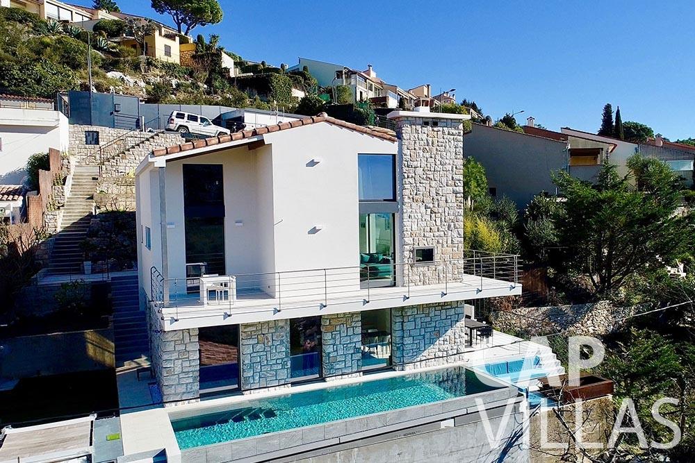 rent Villa Turbie la turbie cap dail aerial view