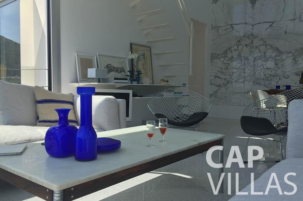 rent Villa Eze Sur Mer eze sur mer laurence living area