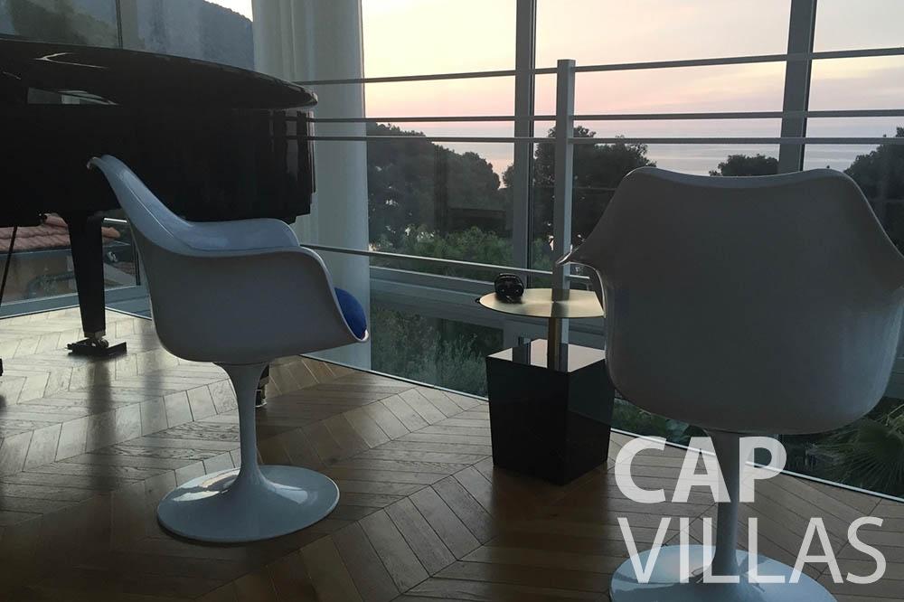 Villa Eze Sur Mer for let eze sur mer laurence terrace view