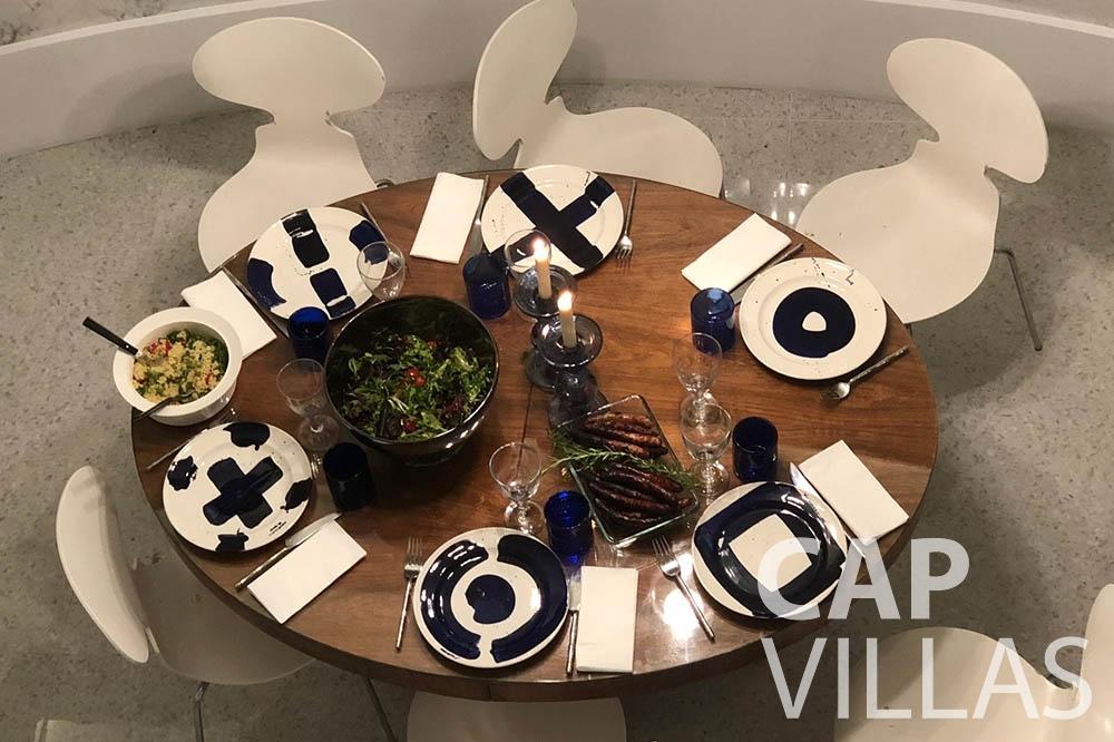 Villa Eze Sur Mer for rent eze sur mer laurence dining area birdview