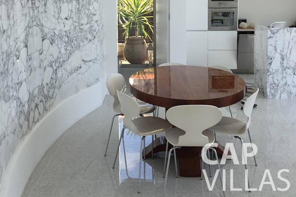 Villa Eze Sur Mer for rent eze sur mer laurence dining area