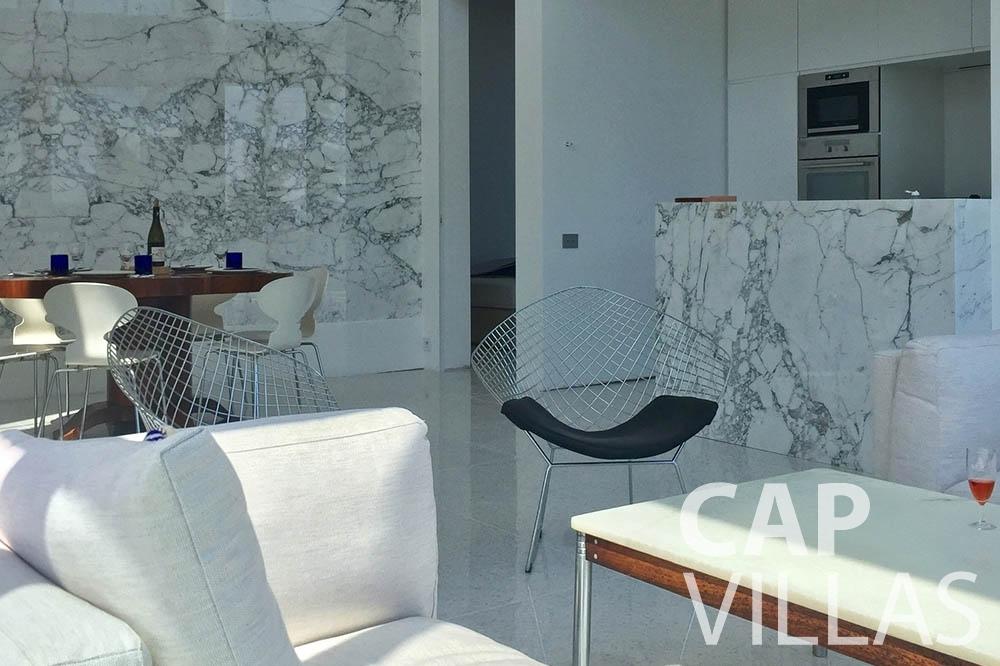 Villa Eze Sur Mer for rent eze sur mer laurence living area