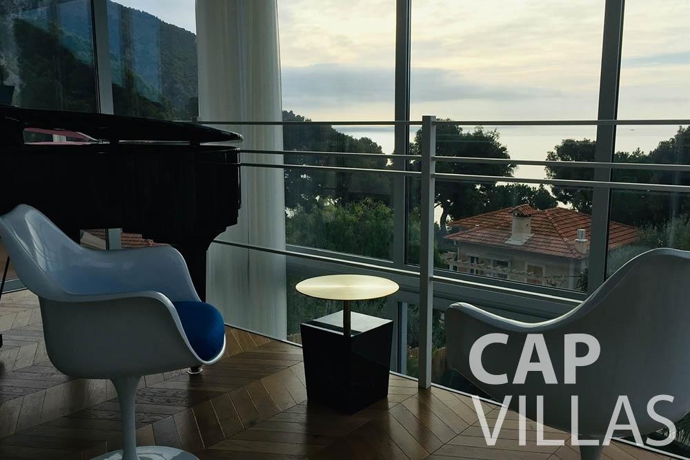 Villa Eze Sur Mer for rent eze sur mer laurence terrace view