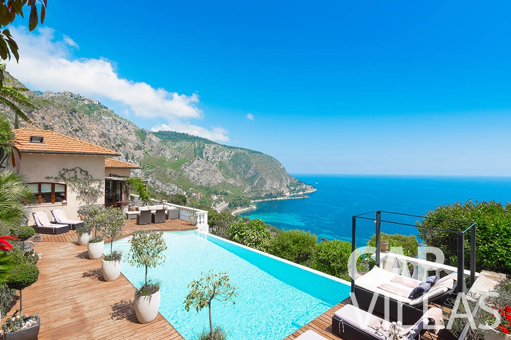 holiday rental eze le roc swimming pool sea view