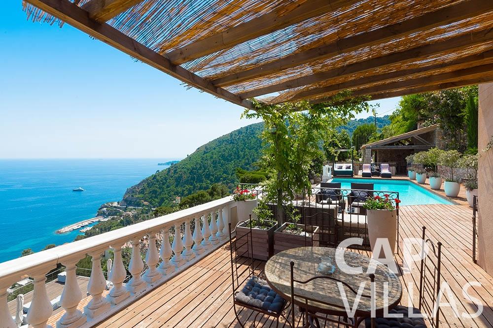 Villa Le Roc for let eze le roc terrace