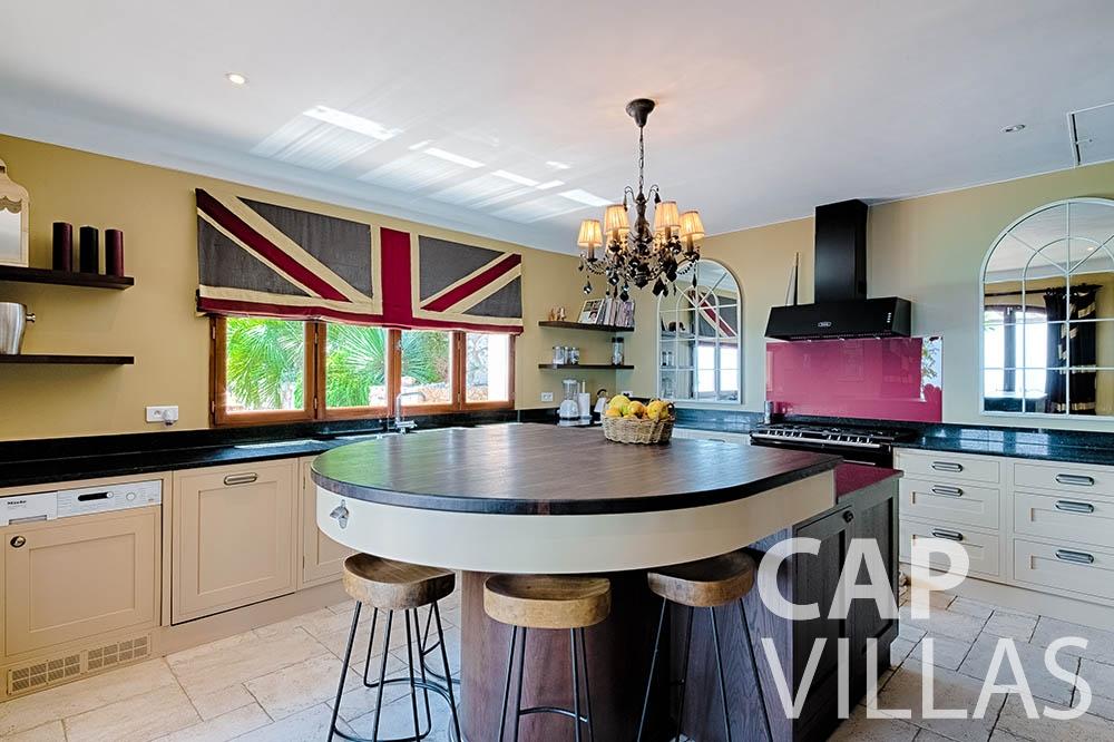 Villa Le Roc for rent eze le roc kitchen