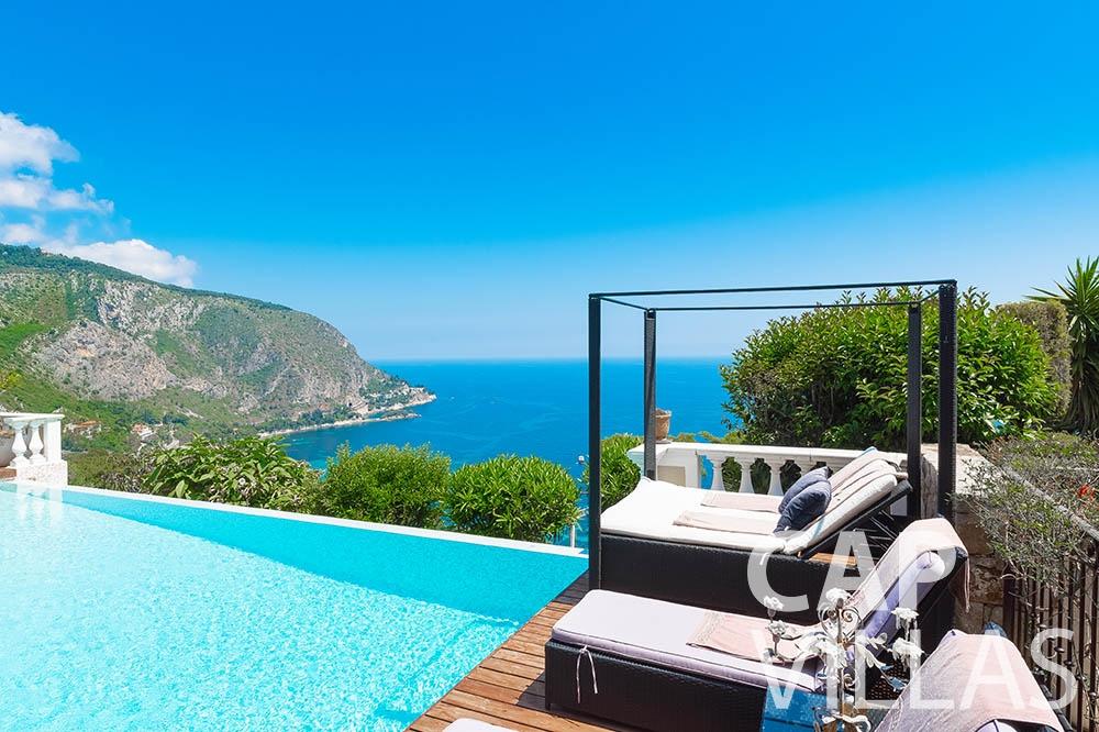 Villa Le Roc for rent eze le roc sea view