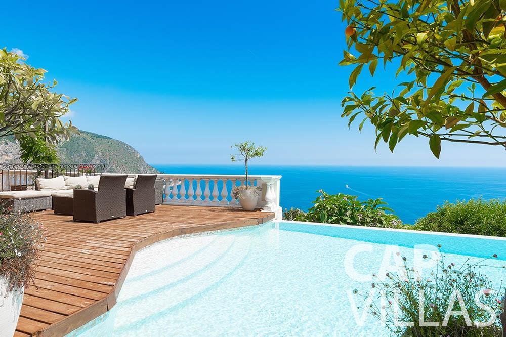 Villa Le Roc for rent eze le roc swimming pool sea view