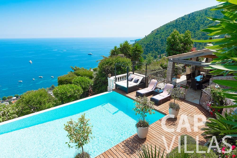 Villa Le Roc for rent eze le roc swimming pool seaview