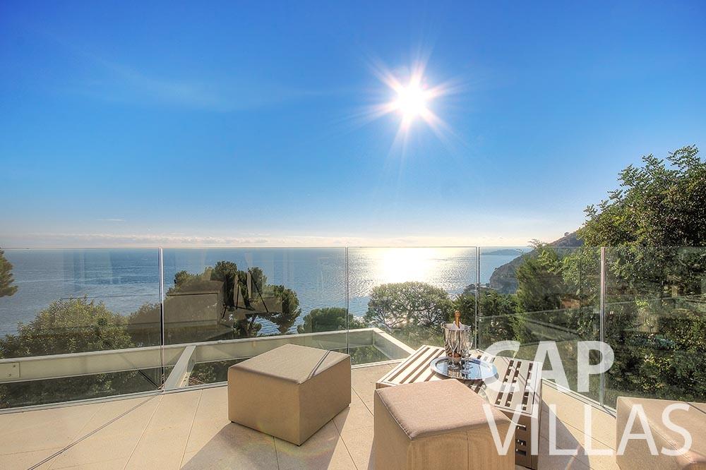 holiday rental magnifique eze sur mer terrace sea view