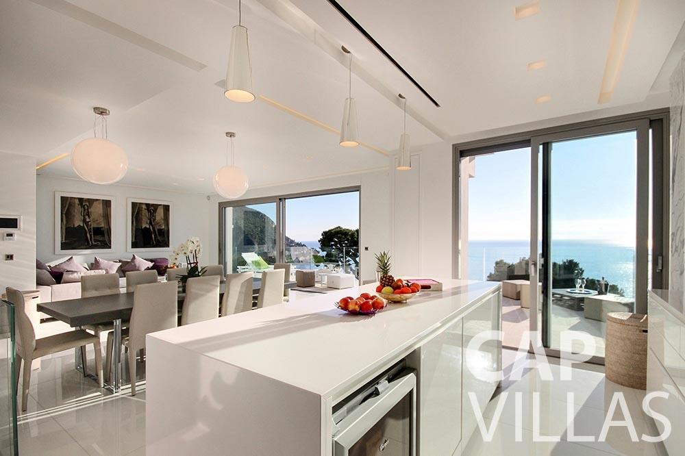 rent Villa Magnifique magnifique eze sur mer dining area sea view