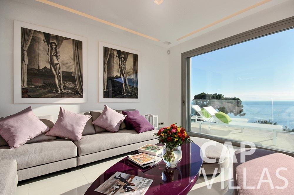 rent Villa Magnifique magnifique eze sur mer living area sea view