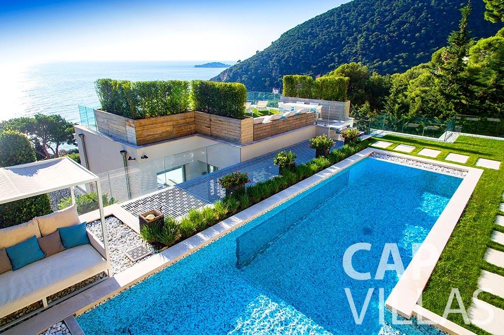 rent Villa Magnifique magnifique eze sur mer pool birdview