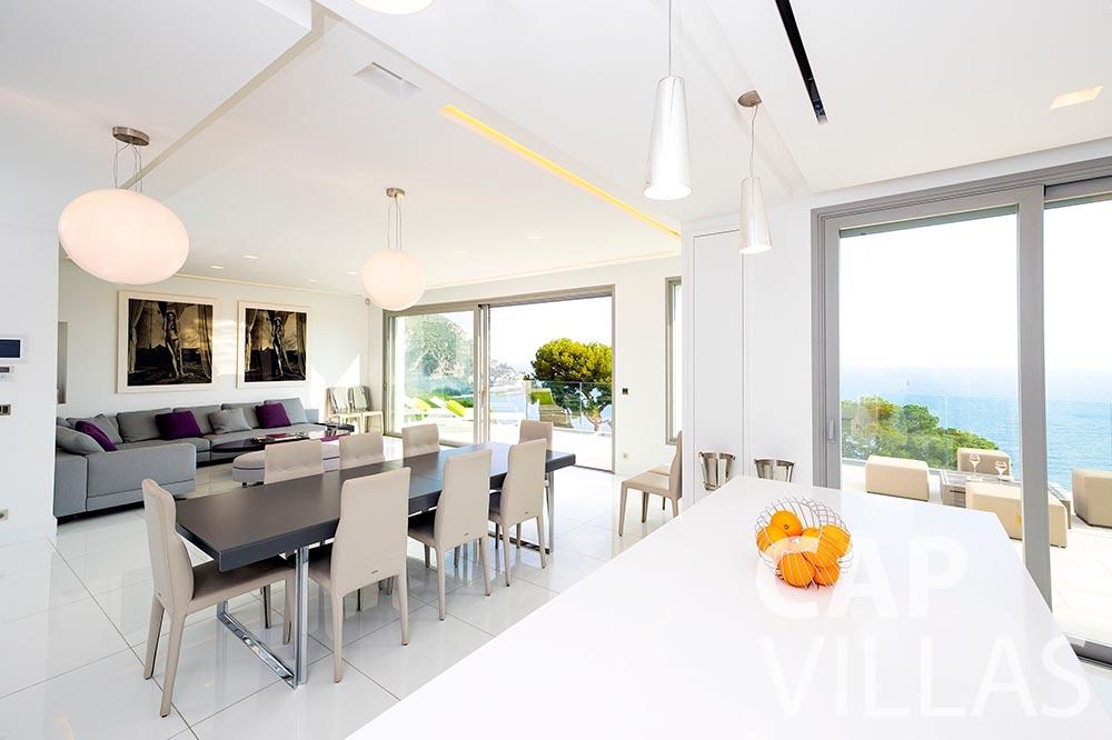 Villa Magnifique for rent magnifique eze sur mer living area