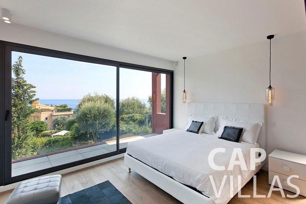 Villa Michelina for rent eze sur mer michelina terrace bedroom