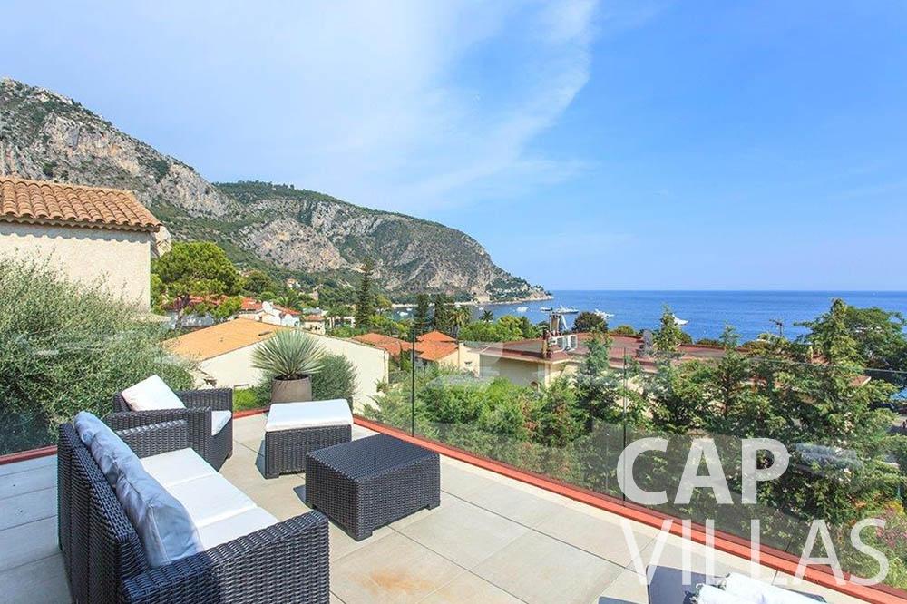 Villa Michelina for rent eze sur mer michelina terrace sea view