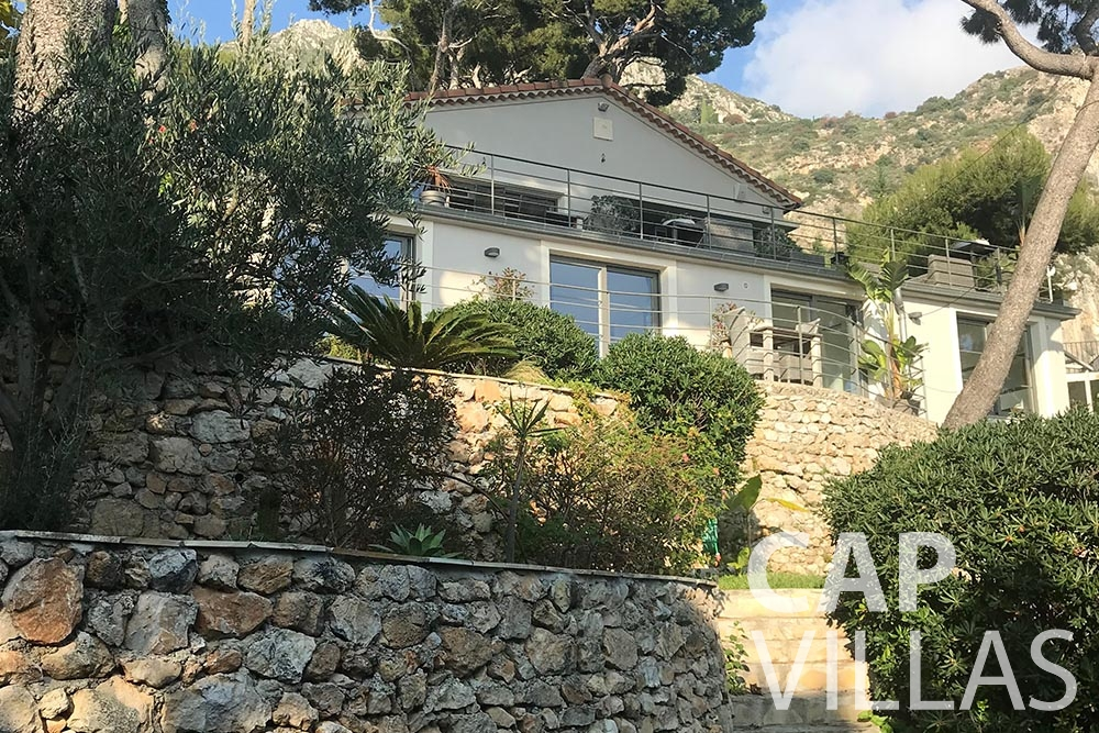 Villa Noel for rent eze sur mer noel property front view