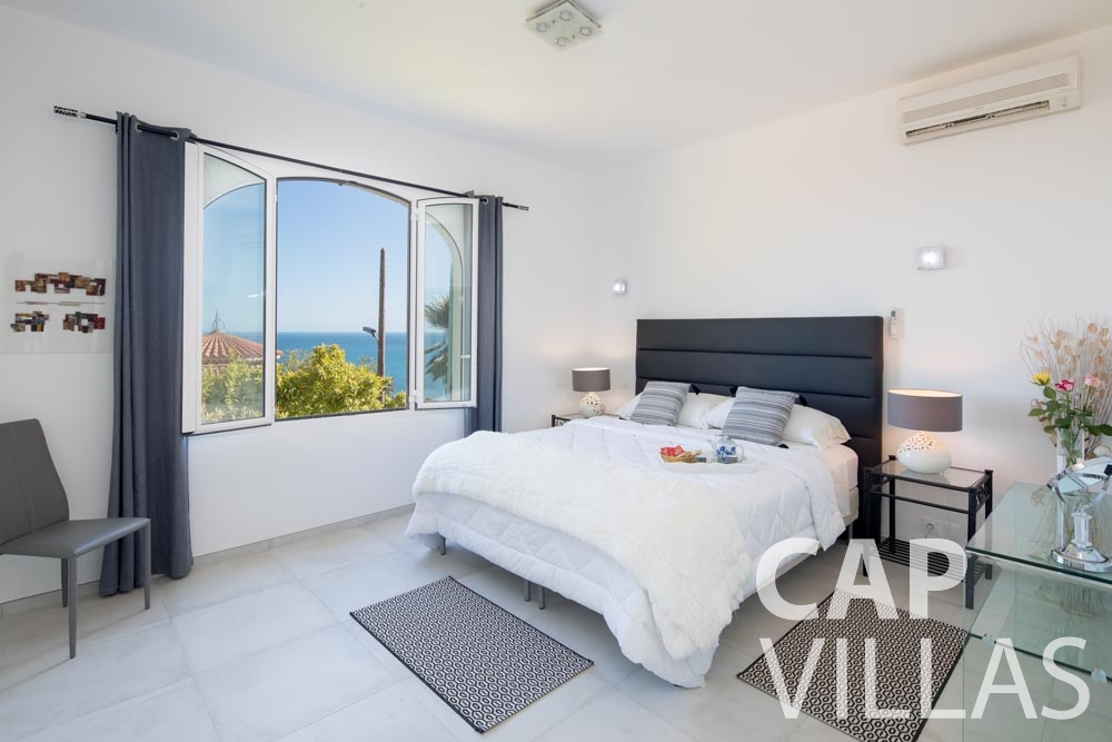 Villa Panarea for rent eze sur mer panarea master bedroom