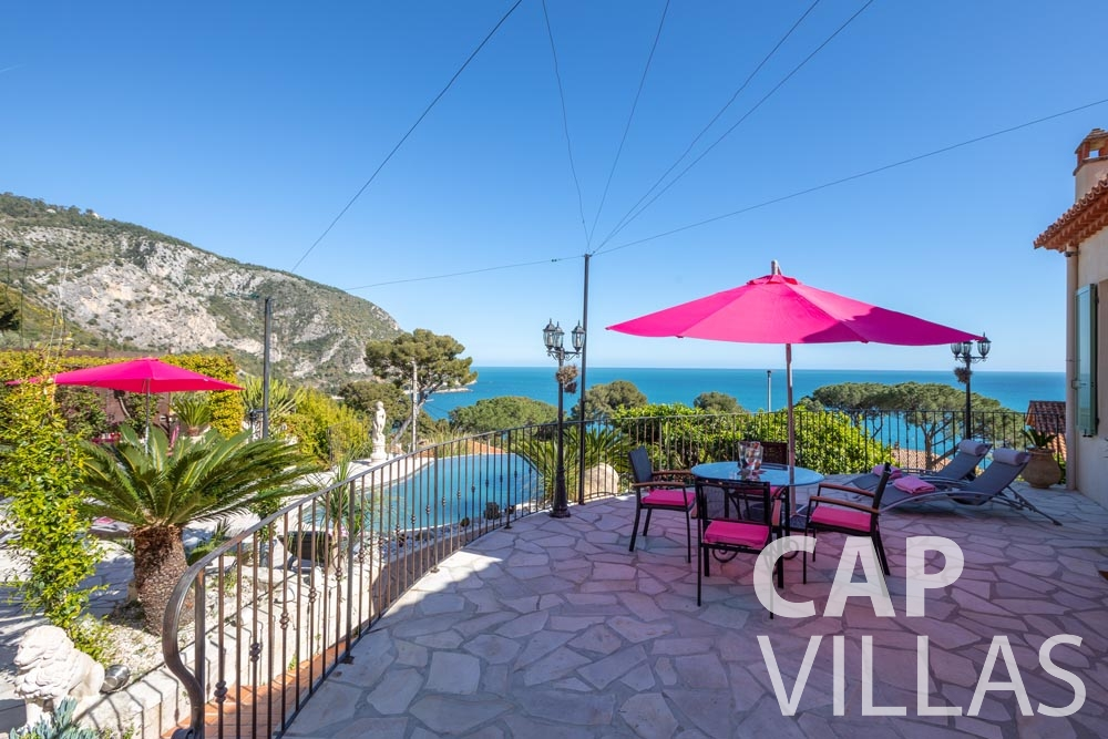 Villa Panarea for rent eze sur mer panarea terrace sea view