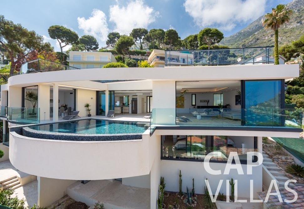 rent Villa Paros eze sur mer paros property front