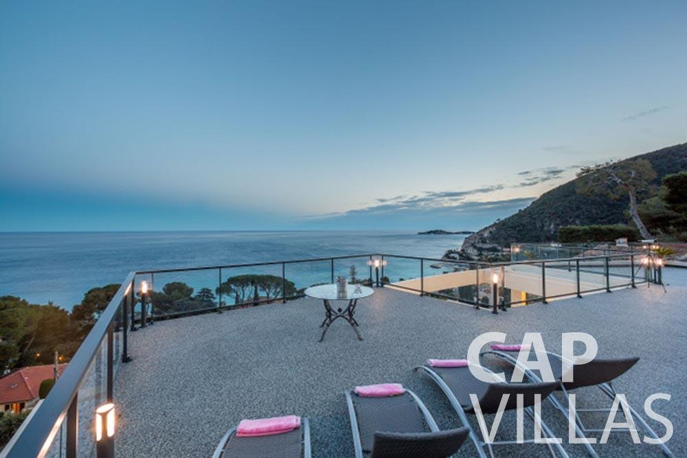 Villa Paros for rent eze sur mer paros terrace