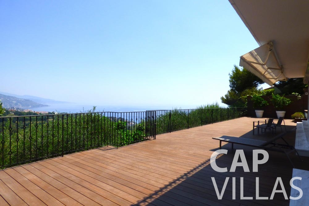 Villa Romantica for let roquebrune cap martin romantica terrace