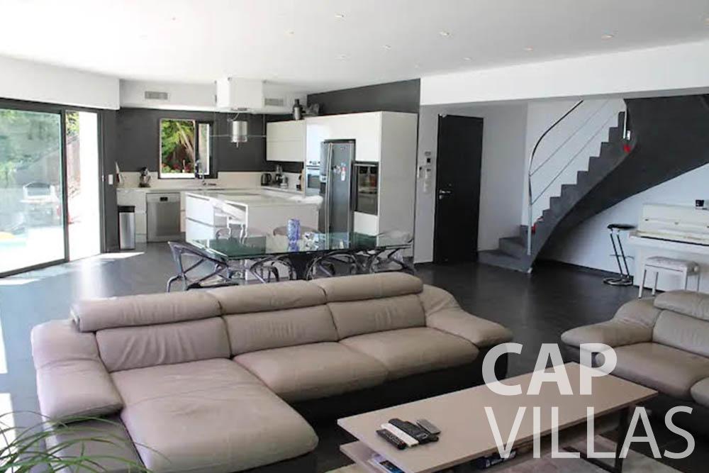 let Villa Romina romina eze living room