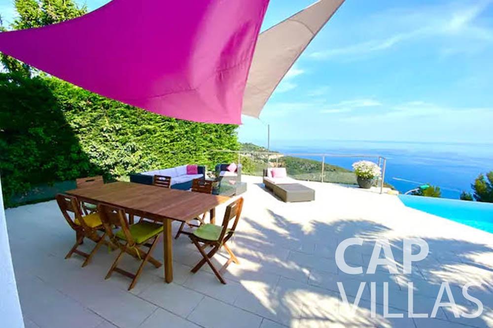 let Villa Romina romina eze terrace sea view