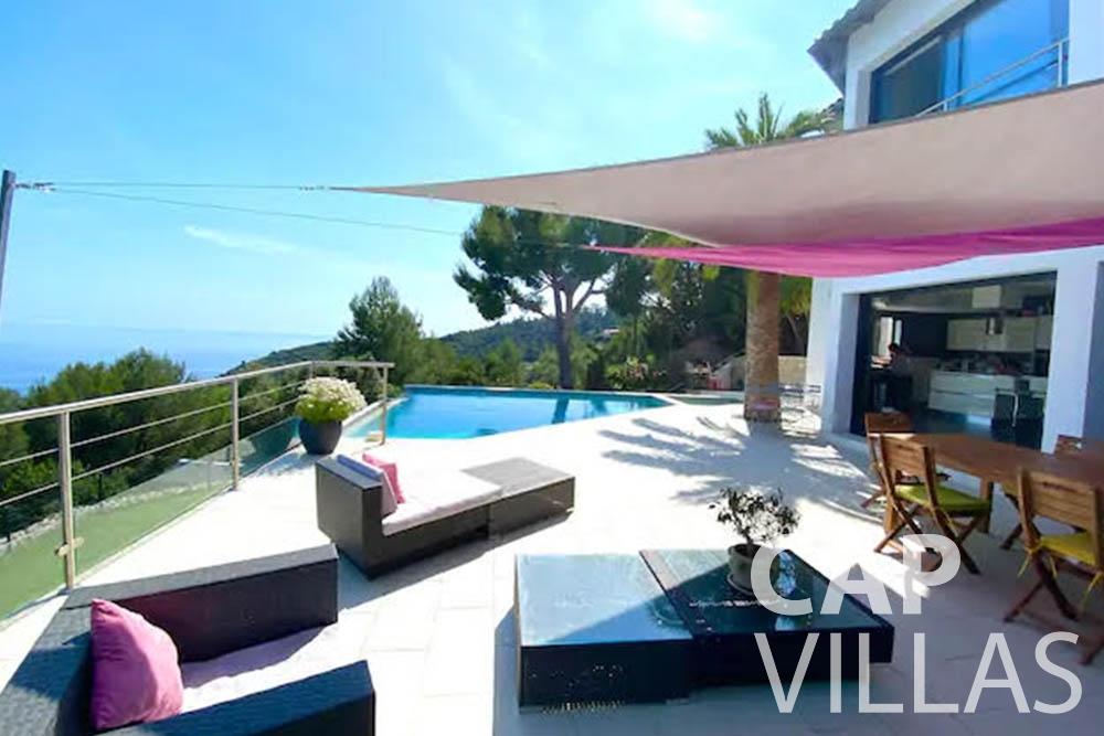 let Villa Romina romina eze terrace seaview