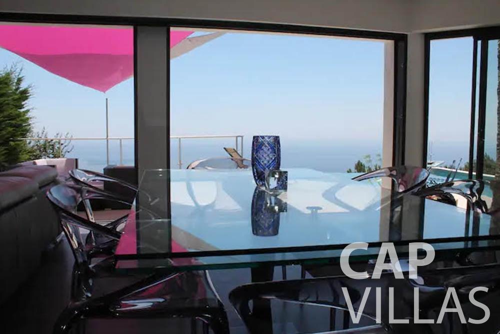 rent Villa Romina romina eze living area sea view