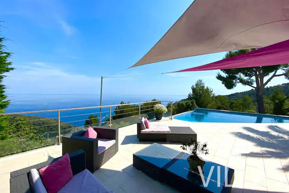 rent Villa Romina romina eze terrace seaview