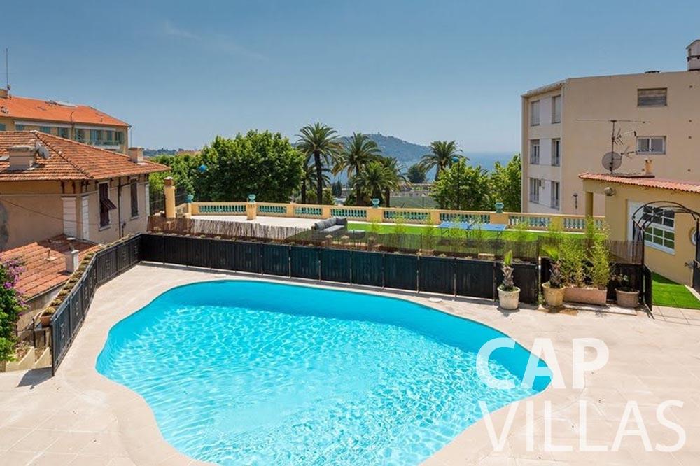 rent Villa Royale semiramis villefranche sur mer swimming pool