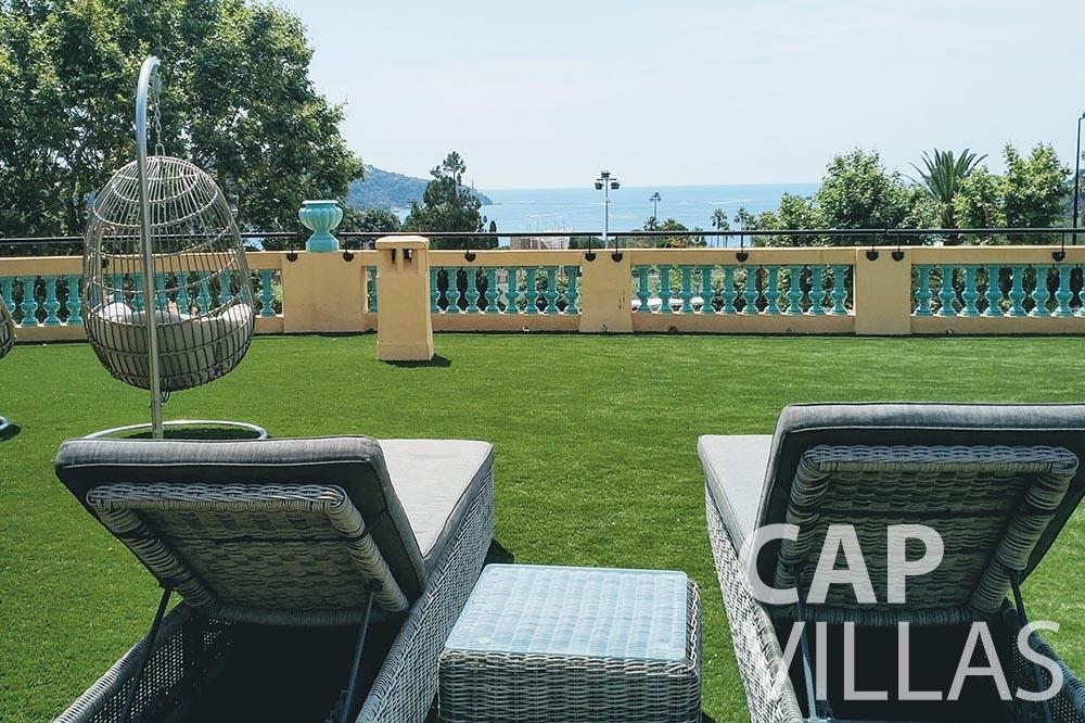 Villa Royale for rent semiramis villefranche sur mer terrace